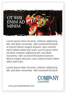 Holiday/Special Occasion: Carnaval Draak Advertentie Template #06572