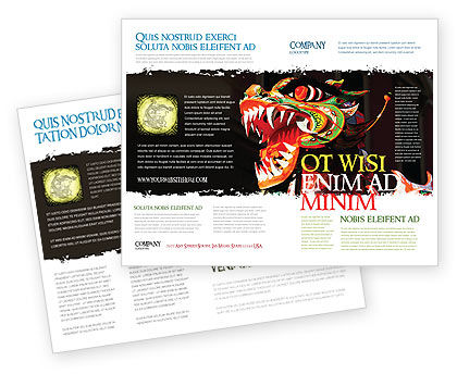 Carnival Dragon Brochure Template, 06572, Holiday/Special Occasion — PoweredTemplate.com