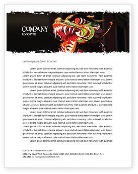 Carnival Dragon Letterhead Template, 06572, Holiday/Special Occasion — PoweredTemplate.com