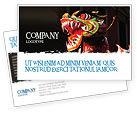 Holiday/Special Occasion: Carnival Dragon Postcard Template #06572