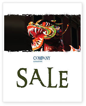 Carnival Dragon Sale Poster Template, 06572, Holiday/Special Occasion — PoweredTemplate.com
