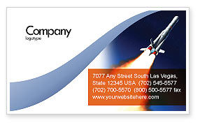 Technology, Science & Computers: Launch Business Card Template #06584
