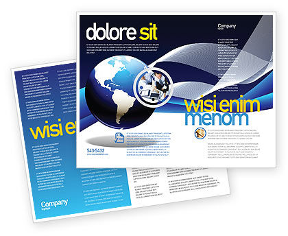 Midnight Blue Globe Brochure Template