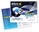 Global: Midnight Blue Globe Brochure Template #06588