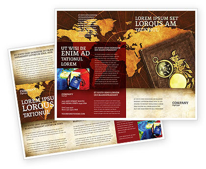 Education & Training: Historical Exploration Brochure Template #06590
