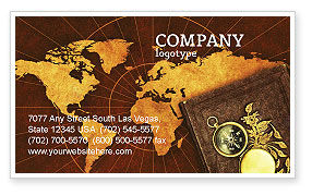 Historical Exploration Business Card Template, 06590, Education & Training — PoweredTemplate.com