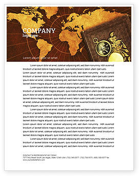Historical Exploration Letterhead Template, 06590, Education & Training — PoweredTemplate.com