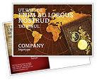 Education & Training: Historical Exploration Postcard Template #06590