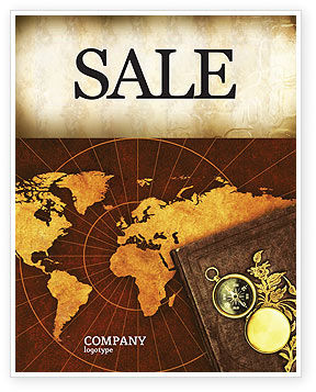 Historical Exploration Sale Poster Template, 06590, Education & Training — PoweredTemplate.com