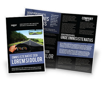 High Speed Driving Brochure Template
