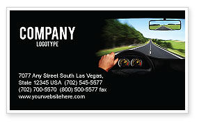 High Speed Driving Business Card Template, 06591, Cars/Transportation — PoweredTemplate.com