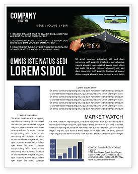 Cars/Transportation: High Speed Driving Newsletter Template #06591