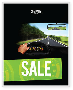 High Speed Driving Sale Poster Template, 06591, Cars/Transportation — PoweredTemplate.com