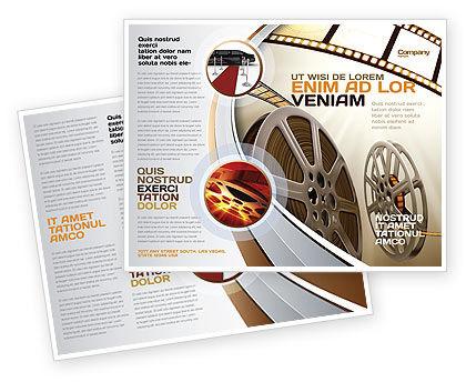 Film Reel In Light Brown Color Brochure Template