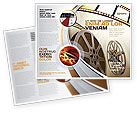 Art & Entertainment: Film Reel In Light Brown Color Brochure Template #06599