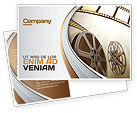 Art & Entertainment: Film Reel In Light Brown Color Postcard Template #06599