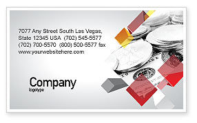 Financial/Accounting: Monetary Reserves Business Card Template #06600