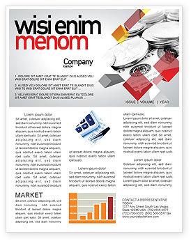 Monetary Reserves Newsletter Template, 06600, Financial/Accounting — PoweredTemplate.com