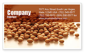 Soy Beans Business Card Template, 06609, Agriculture and Animals — PoweredTemplate.com