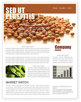 Agriculture and Animals: Soy Beans Newsletter Template #06609
