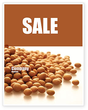 Agriculture and Animals: Soy Beans Sale Poster Template #06609