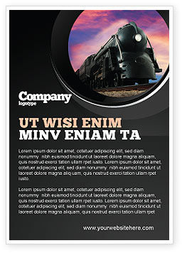 Cars/Transportation: Steam Locomotive Ad Template #06610