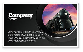 Cars/Transportation: Steam Locomotive Business Card Template #06610