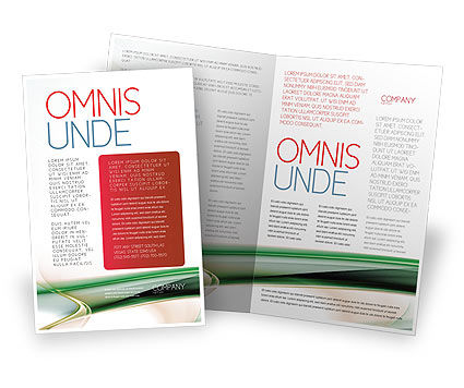 Green with Beige Brochure Template