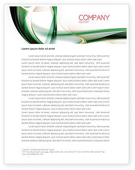 Green with Beige Letterhead Template, 06625, Abstract/Textures — PoweredTemplate.com