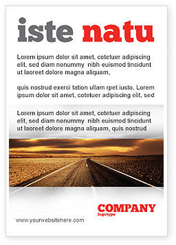 Cars/Transportation: Highway In Sepia Ad Template #06629