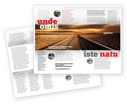 Highway In Sepia Brochure Template