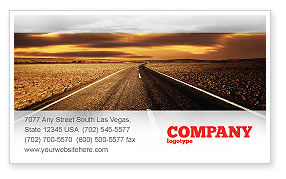 Highway In Sepia Business Card Template