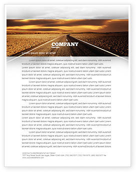 Cars/Transportation: Highway In Sepia Letterhead Template #06629