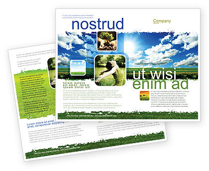 Bright Day Brochure Template, 06630, Nature & Environment — PoweredTemplate.com