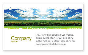 Nature & Environment: Bright Day Business Card Template #06630