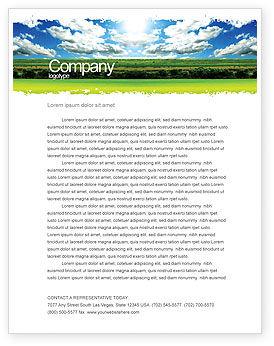 Nature & Environment: Heller tag Briefkopf Vorlage #06630