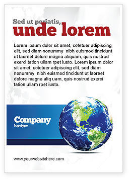 Global: World Globe Ad Template #06636