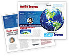 Global: World Globe Brochure Template #06636