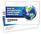 Global: World Globe Postcard Template #06636