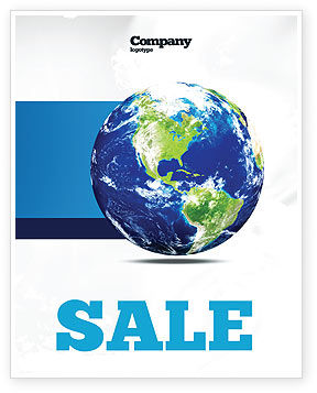 World Globe Sale Poster Template, 06636, Global — PoweredTemplate.com
