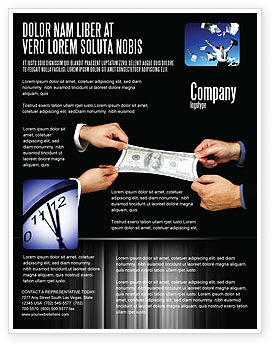 Business: Stretching hundert dollar Flyer Vorlage #06646