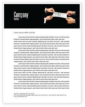 Stretching a Hundred Dollars Letterhead Template, 06646, Business — PoweredTemplate.com
