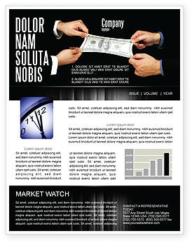 Business: Stretching a Hundred Dollars Newsletter Template #06646