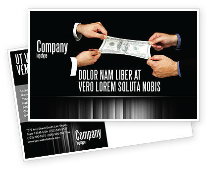 Stretching a Hundred Dollars Postcard Template, 06646, Business — PoweredTemplate.com