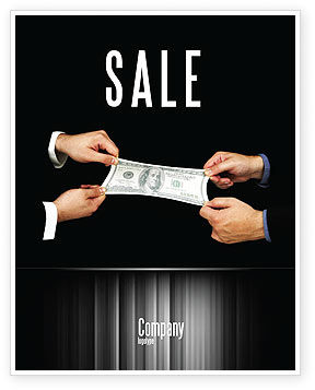 Stretching a Hundred Dollars Sale Poster Template, 06646, Business — PoweredTemplate.com