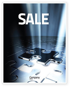 Consulting: Puzzle Piece In A Puzzle Sale Poster Template #06648