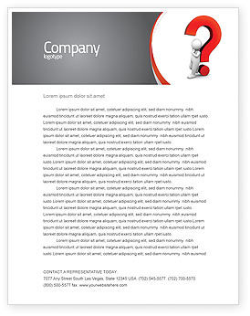 Question Mark Letterhead Template