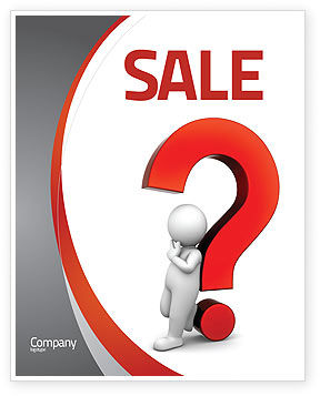 Question Mark Sale Poster Template