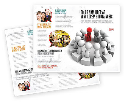 Group Deliberation Brochure Template, 06654, 3D — PoweredTemplate.com