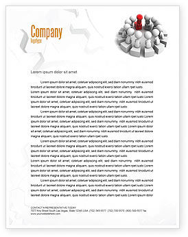 Group Deliberation Letterhead Template, 06654, 3D — PoweredTemplate.com